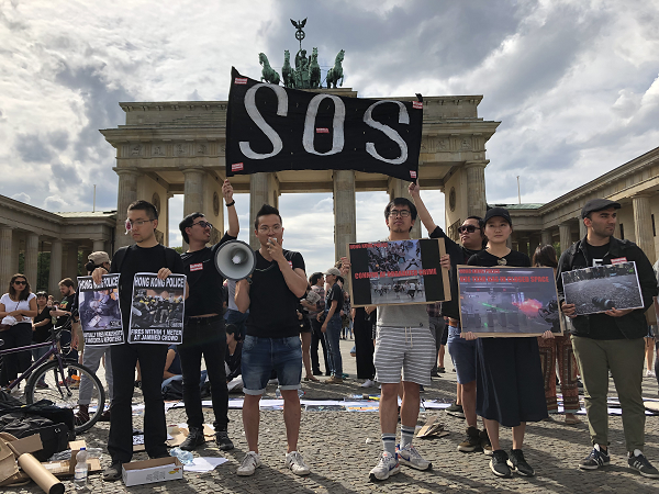 Pro-Hong Kong demonstrators in Berlin