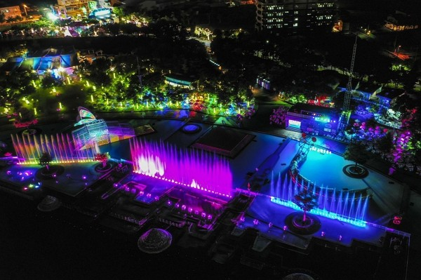 The light show at YICFFF 2019 (CNA photo)