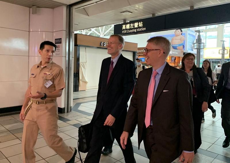 AIT Director Brent Christensen (middle) visiting Kaohsiung (Source: AIT Facebook)