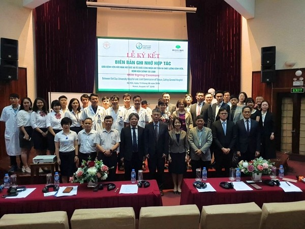 Hospitals from Taiwan and Vietnam signed an MOU (photo: JCT's website)