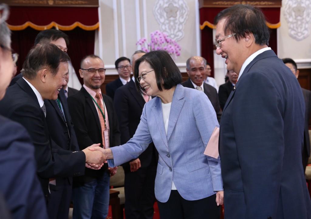 President Tsai Ing-wen meets Taiwan Medical Association representatives. (CNA photo)
