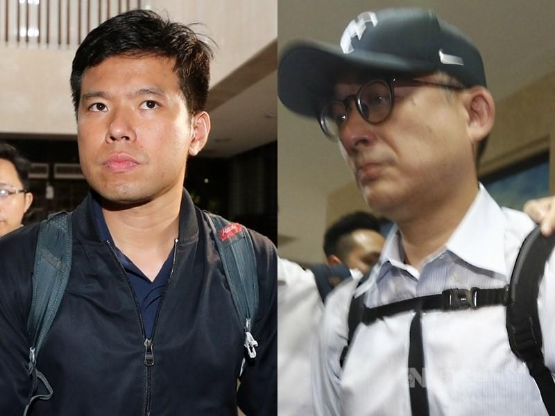 國安局少校吳宗憲(左)、華航空品處副總邱彰信(右)等13人遭北檢起訴。(中央社檔案照片)