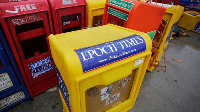 The Epoch Times and NBC have become embroiled in a war of words.
