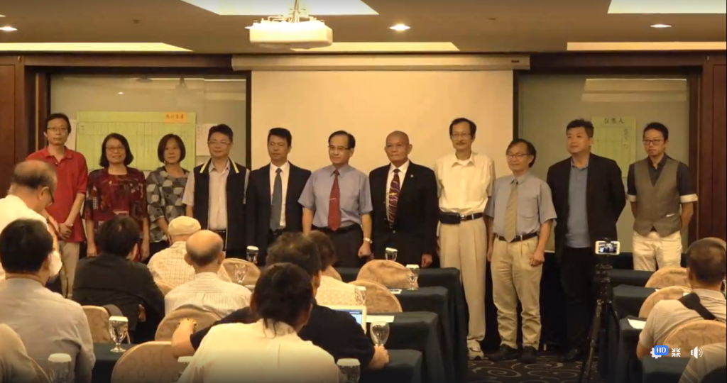 Taiwan Renewal Party Convener Su Huan-chih (sixth from right) (photo from Su's Facebook page).