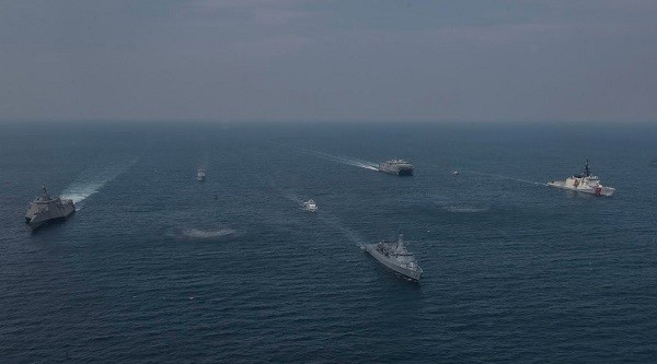 US Navy's Destroyer Squadron 7 (Twitter photo)