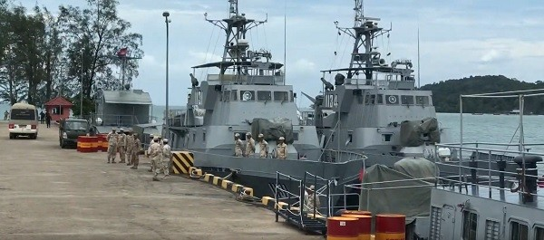 Ream Naval Base (Screenshot of Cambodia Defense Ministry video)
