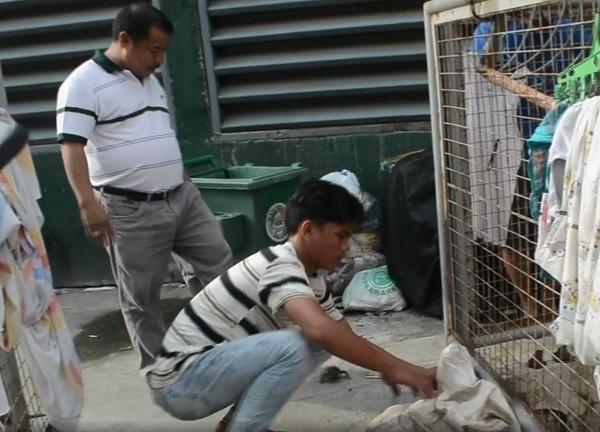Residents of Old Balara release frogs (Barangay Matandang Balara - Action Forward Facebook page)