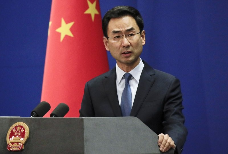 File photo: Chinese Foreign Ministry Spokesperson Geng Shuang