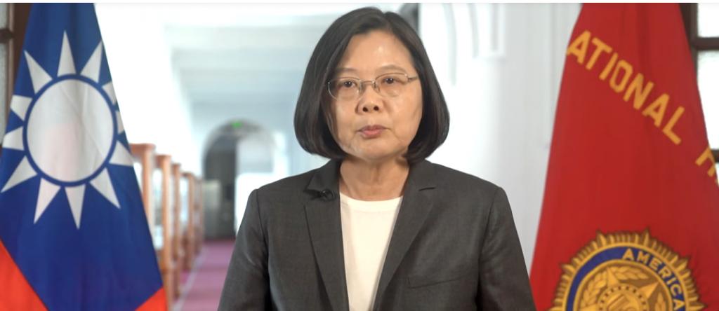 President Tsai Ing-wen addressing the American Legion (screenshot from Presidential Office website).