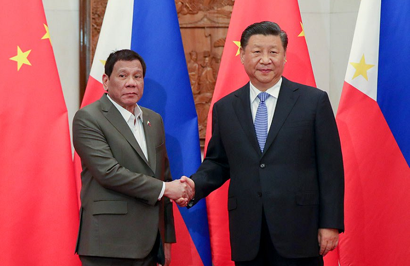Philippine President Duterte and Chinese leader Xi Jinping (PHI Pres. photo)