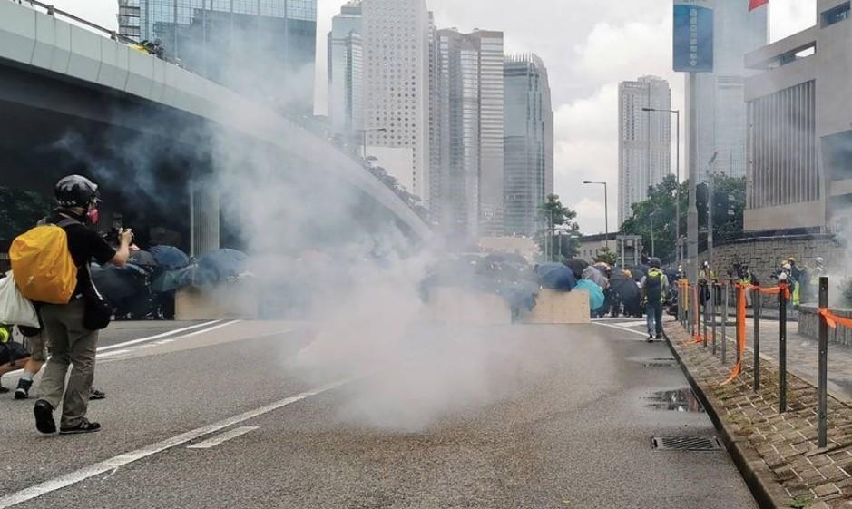 831為香港罪人祈禱爆發衝突(圖/中央社)