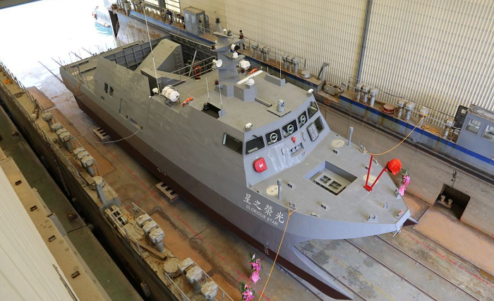 Micro-missile assault boat prototype 'Glory Star' (Photo from NCSIST)