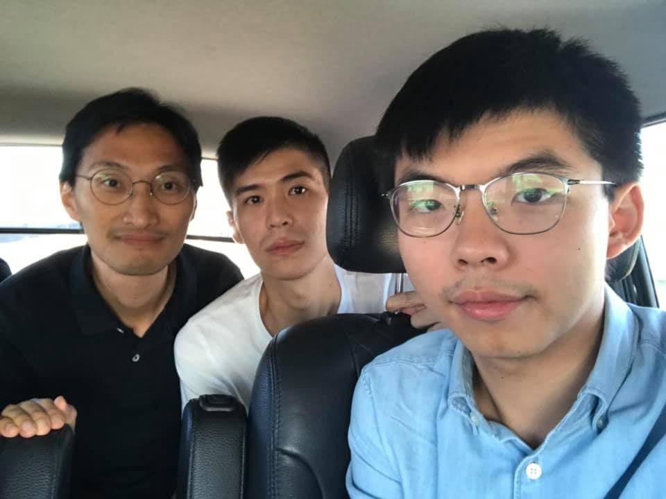 Wong (right). (Photo from Joshua Wong Facebook page)