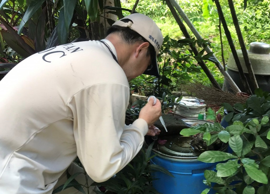 Inspections take place to prevent mosquitoes spreading chikungunya fever (photo courtesy of CDC).