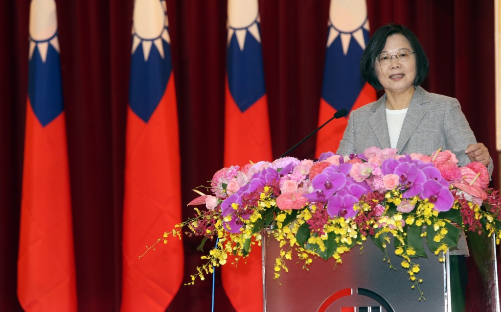 President Tsai Ing-wen speaking at a Chunghwa Post event Thursday September 5.