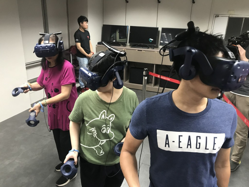 A virtual reality escape game has been set up at the Fire Safety Museum in Taipei (Source: CNA)