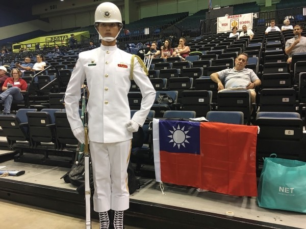 A Taiwanese honor guard standing by the flag at last year's WDC.