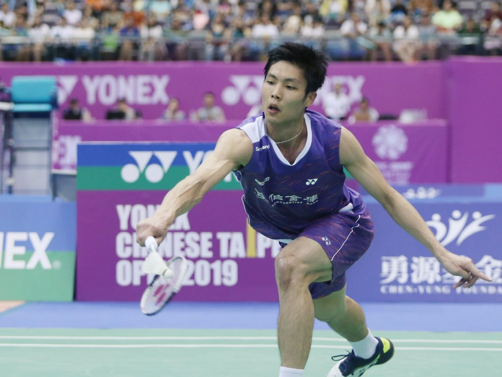 Badminton star Chou Tien-chen moves into the final.