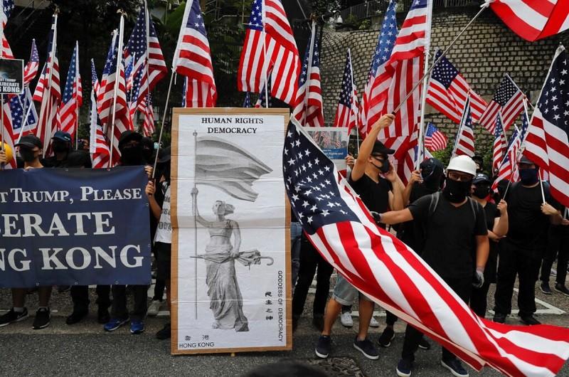 香港8日反送中示威情形 (美聯社)