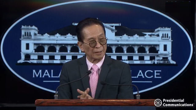 Presidential Spokesperson Salvador Panelo (Photo from Philippine Presidential Office)