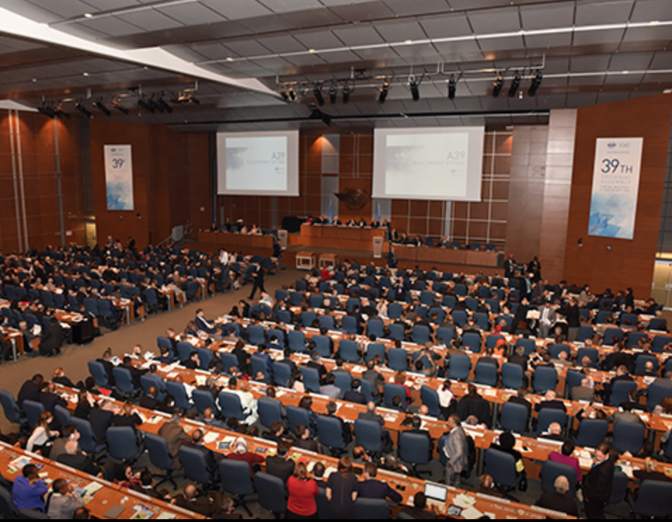 The ICAO assembly in 2016 (Screen capture from ICAO's Facebook page)