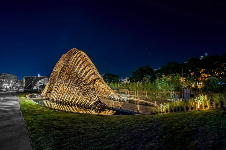 Bamboo Pavilion at Taichung World Flora Expo (Coretronic Culture and Arts Foundation photo)