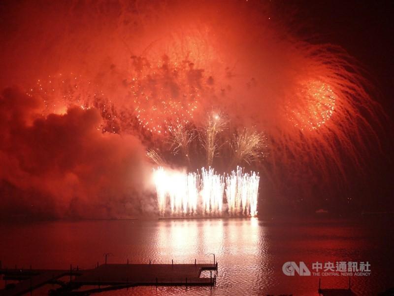 2018年國慶煙火(圖/ 中央社)