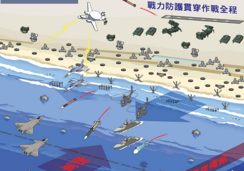 Taiwan defense report in comics (Ministry of National Defense image)