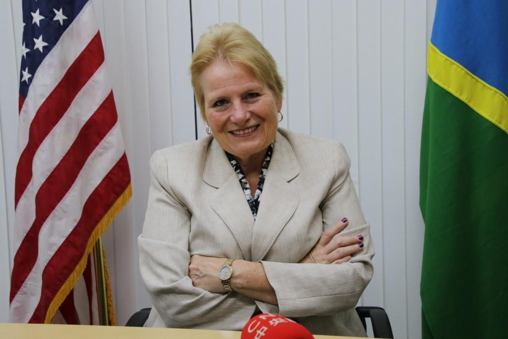 U.S. Ambassador Catherine Ebert-Gray.