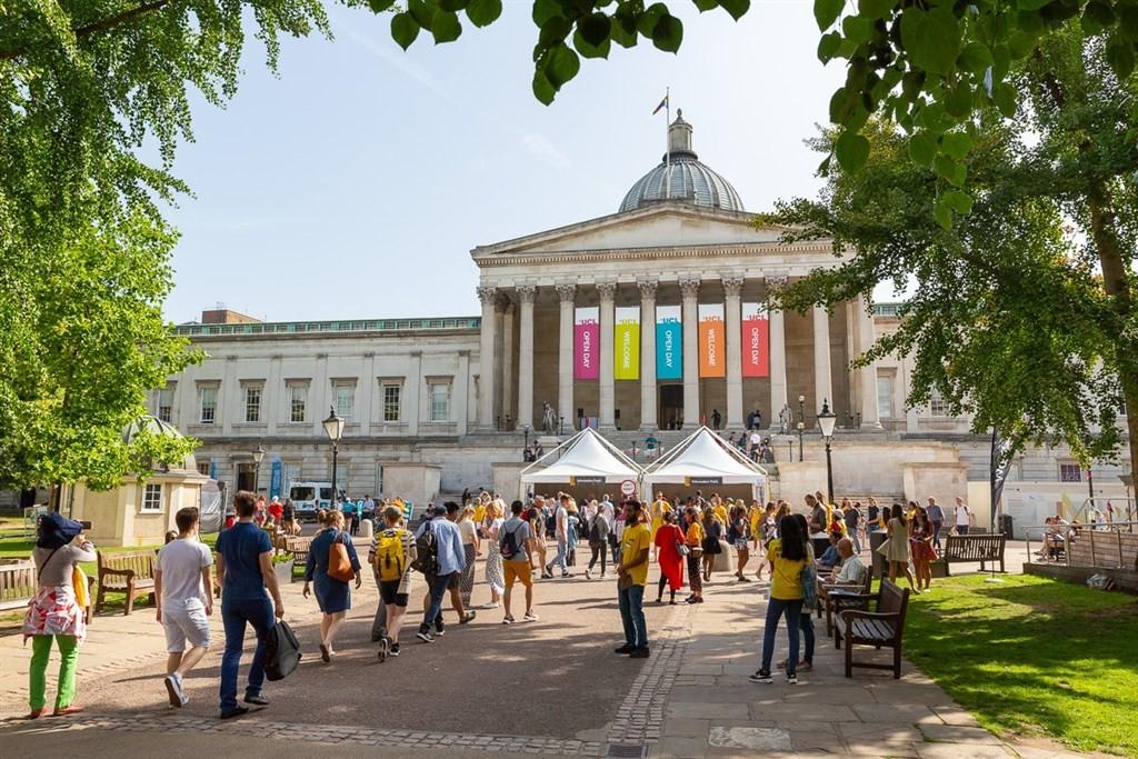 英國內政部11日宣布政策反轉,2020年將恢復讓留學生畢業後可取得2年居留的「求學後工作簽證」。圖為英國國際學生最多的大學倫敦大學學院。(...