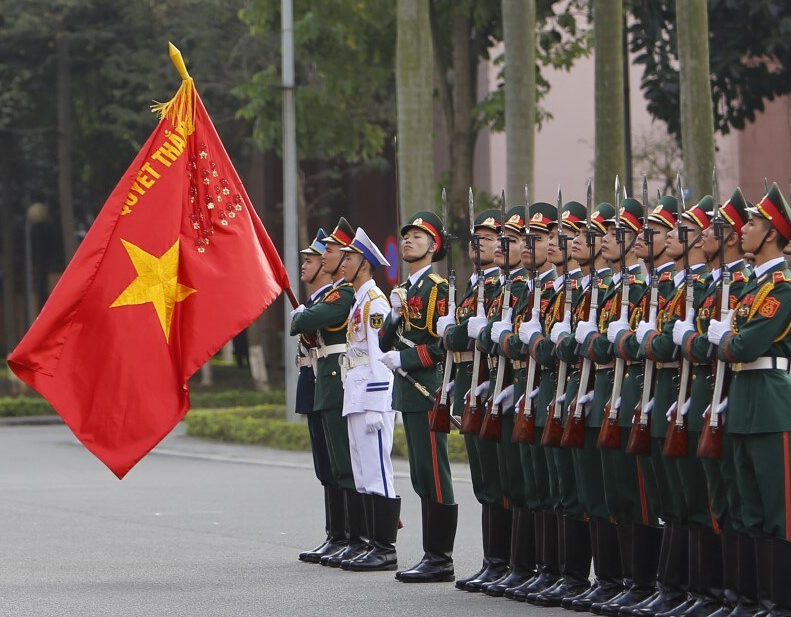 File photo: Vietnamese honor guard