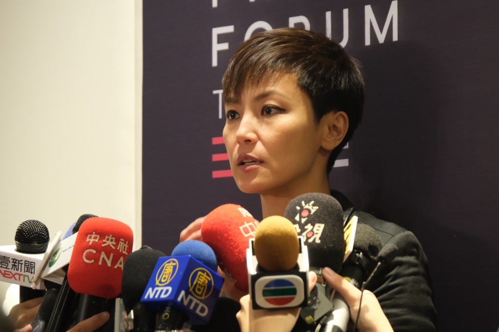 Hong Kong singer and pro-democracy activist Denise Ho (Photo: Teng Pei-ju)