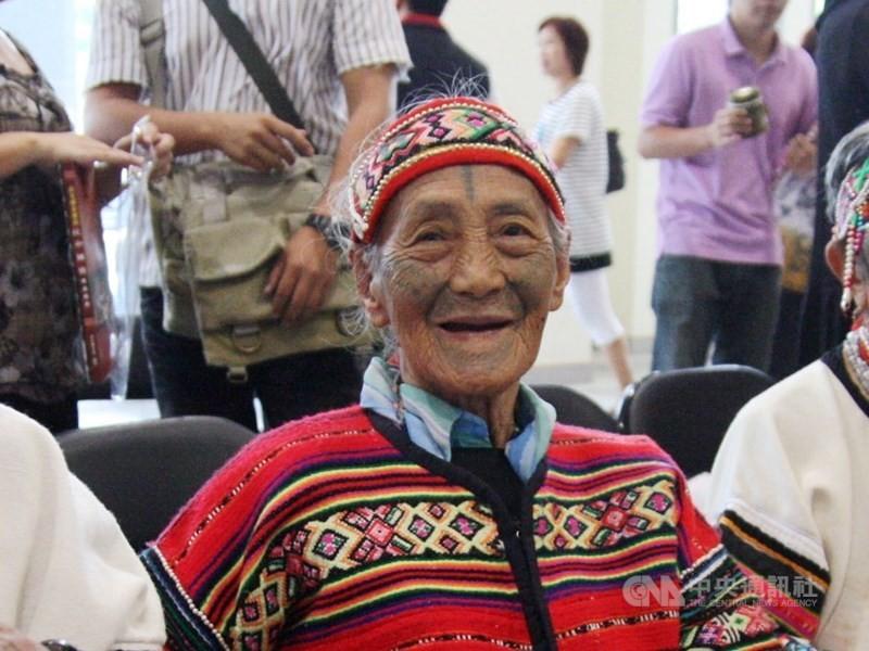 泰雅族文面國寶柯菊蘭(照片來源:中央社/資料照片)