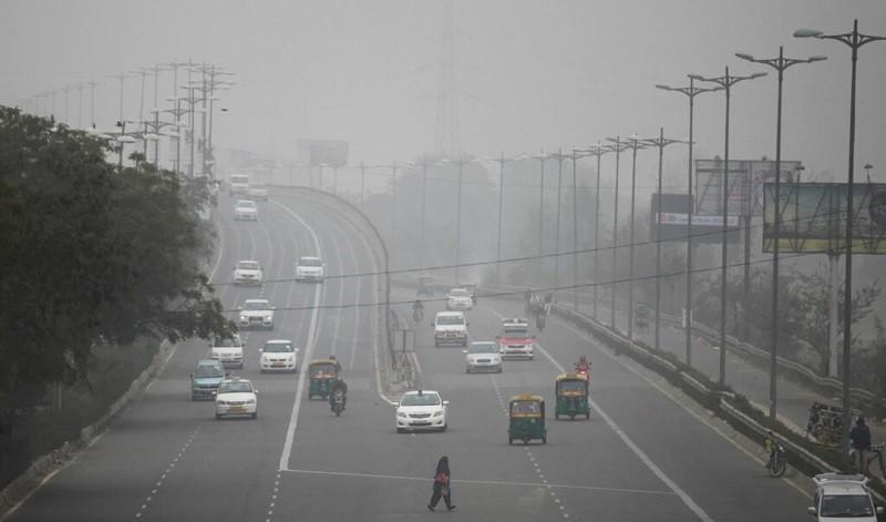 圖為2016年印度新德里霧霾景象 (美聯社)
