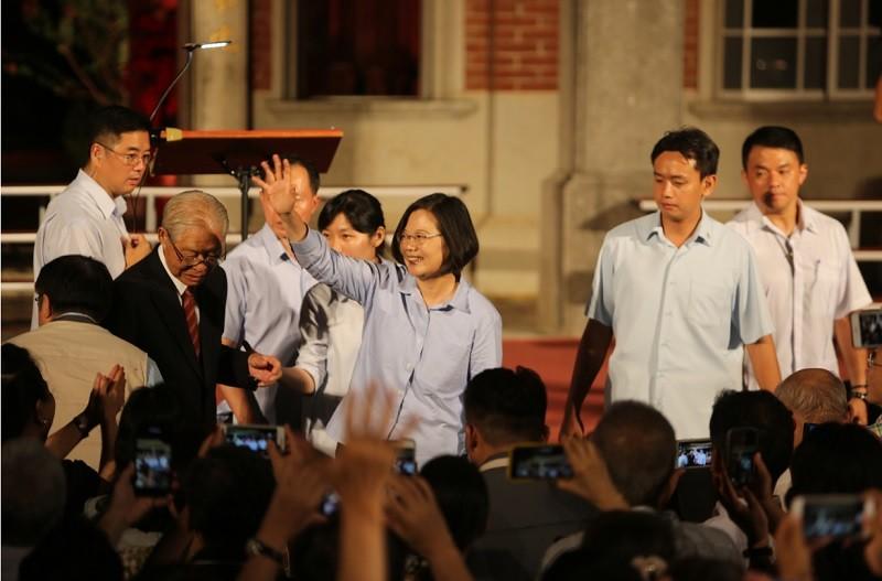 蔡總統出席後壁黃家古厝音樂會(中央社)
