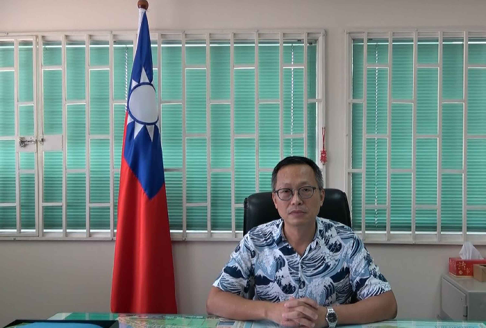 File photo: Taiwan's Ambassador to Solomon Islands Oliver Liao (廖文哲)