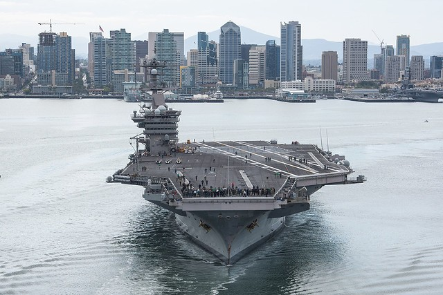 USS Carl Vinson departs San Diego ahead of 2018 RIMPAC exercises (Photo from US INDOPACOM)