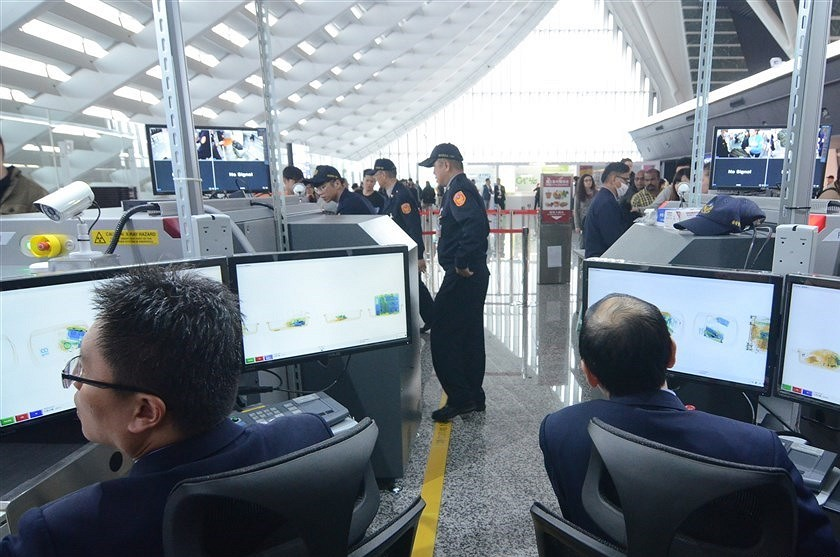 Airport inspection (CNA photo)