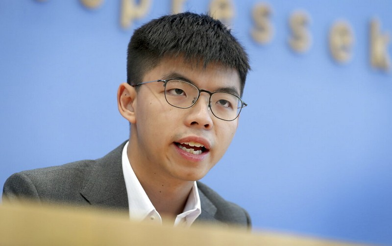 Hong Kong activist Joshua Wong (AP photo)
