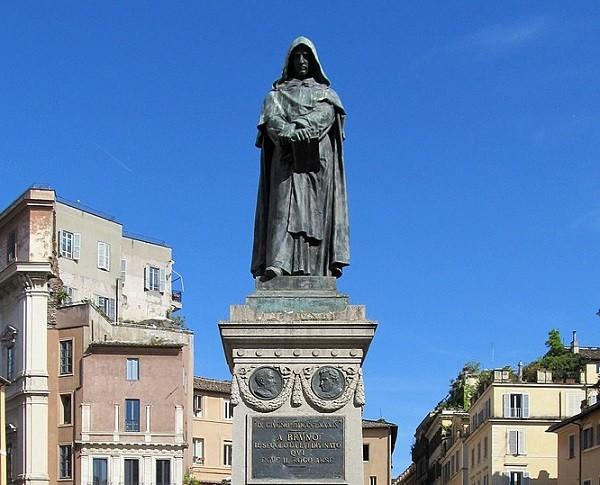位於義大利羅馬的布魯諾雕像