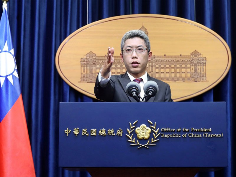 Spokesman for the Presidential Office Ernesto Ting (丁允恭) (CNA photo)