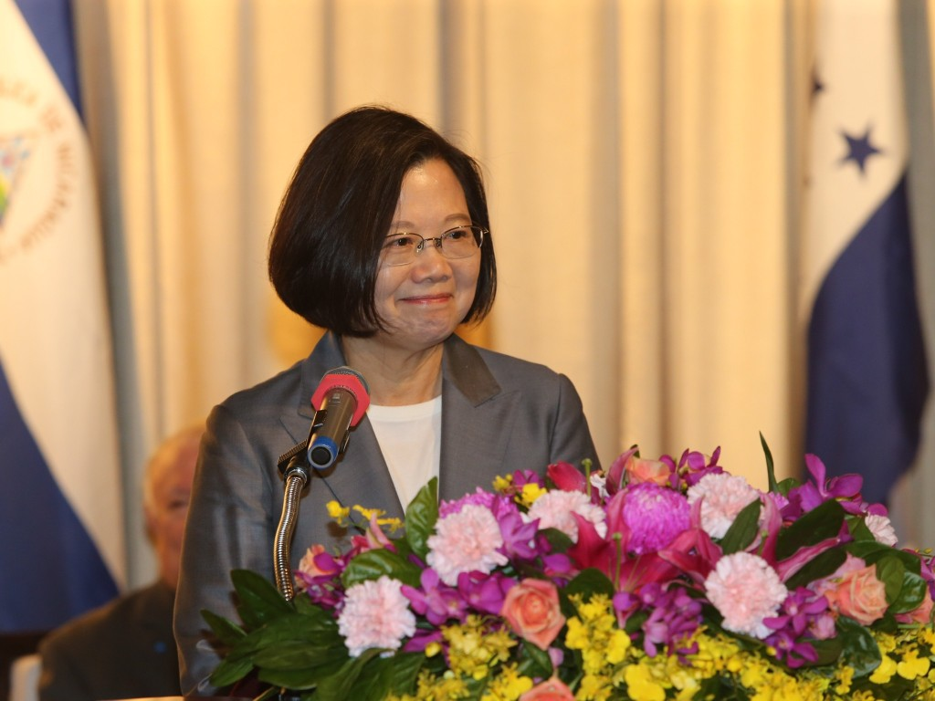President Tsai Ing-wen attends a reception for the 198th anniversary of the independence of Central America in Taipei on Sept. 17 (Source: CNA)
