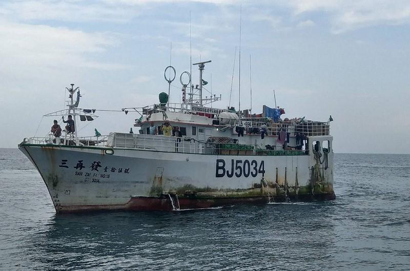 Taiwanese fishing vessel in Solomon Island waters.