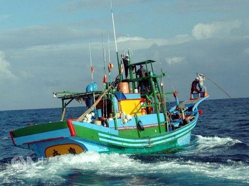 A Taiwanese fishing boat.