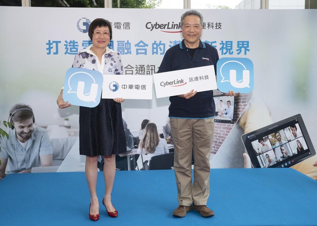 照片由左至右:中華電信國際電信分公司吳學蘭總經理、訊連科技執行長黃肇雄博士(照片由中華電信提供)