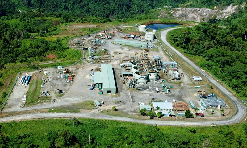 Previous facilities constructed at Gold Ridge Mine (Photo from Concrete Evidence)