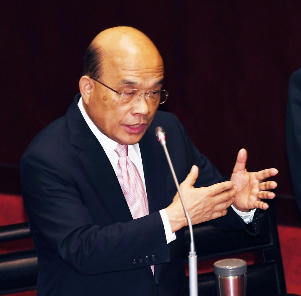 Premier Su Tseng-chang speaking at the Legislative Yuan Friday September 20.