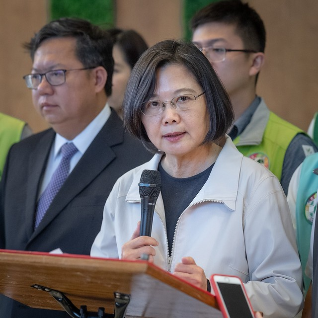 President Tsai Ing-wen comments on the severance of diplomatic relations between Taiwan and Kiribati on Sept. 20 (Source: Presidential Office)