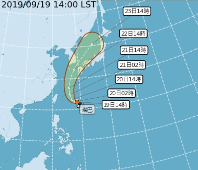 【最新】塔巴颱風今距台灣最近 外圍環流致北部東北部溼涼