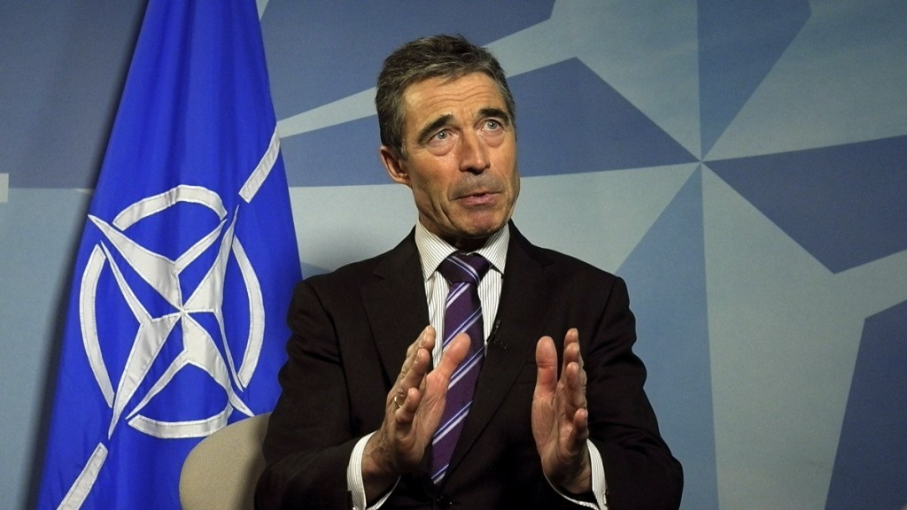 Anders Fogh Rasmussen during his NATO days.